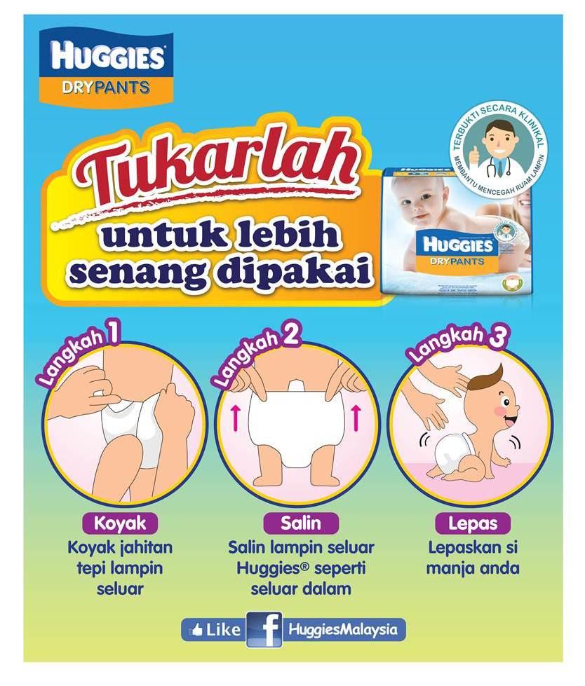 Huggies Dry Pants - Koyak Salin Lepas