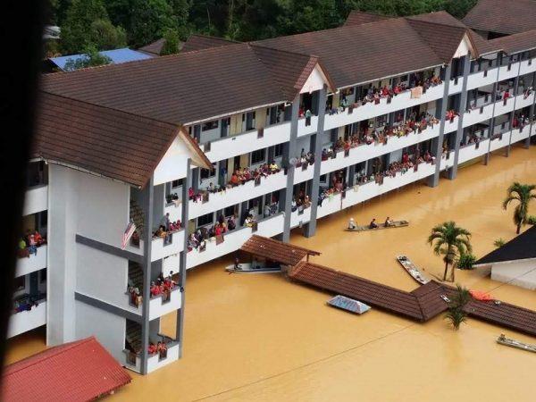 Tempat pemindahan banjir.